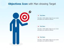 Objectives Icon With Man Showing Target