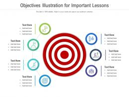 Objectives Illustration For Important Lessons Infographic Template