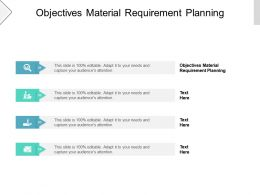 Objectives Material Requirement Planning Ppt Powerpoint Presentation Inspiration Display Cpb