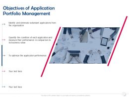Objectives Of Application Portfolio Management Comparison Ppt Powerpoint Presentation Ideas