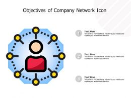Objectives Of Company Network Icon