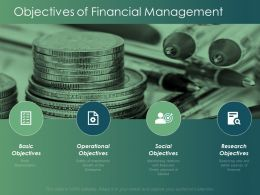 Objectives Of Financial Management Currency Ppt Powerpoint Presentation Infographics Grid