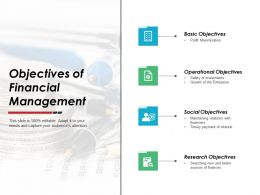 Objectives Of Financial Management Operational Objectives Ppt Powerpoint Slides