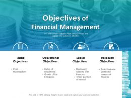 Objectives Of Financial Management Ppt Layouts Outline