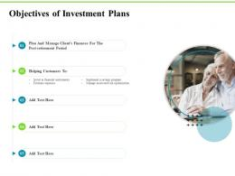 Objectives Of Investment Plans Investment Plans Ppt Infographics Inspiration