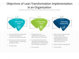 Objectives Of Lean Transformation Implementation In An Organization
