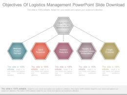 Objectives Of Logistics Management Powerpoint Slide Download