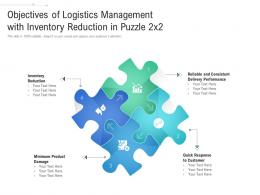 Objectives Of Logistics Management With Inventory Reduction In Puzzle 2x2
