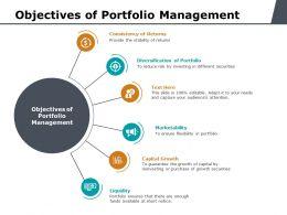 Objectives Of Portfolio Management Ppt Powerpoint Presentation Deck