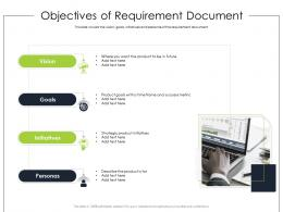 Objectives Of Requirement Document Product Requirement Document Ppt Diagrams