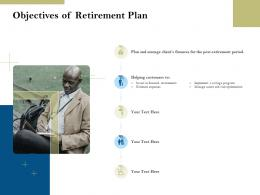 Objectives Of Retirement Plan Pension Plans Ppt Powerpoint Presentation Sample