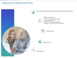 Objectives Of Retirement Plan Ppt Powerpoint Presentation Infographics