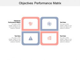 Objectives Performance Matrix Ppt Powerpoint Presentation Slides Display Cpb