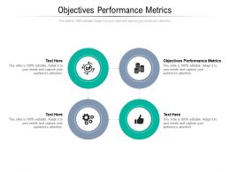 Objectives Performance Metrics Ppt Powerpoint Presentation Icon Outline Cpb