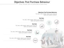 Objectives Post Purchase Behaviour Ppt Powerpoint Presentation Model Summary Cpb