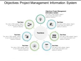 Objectives Project Management Information System Ppt Powerpoint Presentation Styles Smartart Cpb