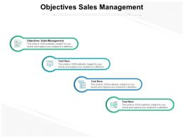 Objectives Sales Management Ppt Powerpoint Presentation Show Templates Cpb