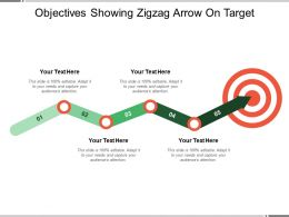 Objectives Showing Zigzag Arrow On Target