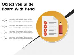 Objectives Slide Board With Pencil