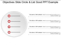 Objectives Slide Circle And List Good Ppt Example