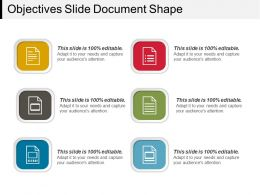 Objectives Slide Document Shape