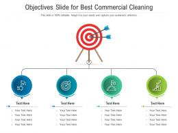 Objectives Slide For Best Commercial Cleaning Infographic Template