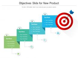 Objectives Slide For New Product Infographic Template