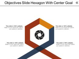 Objectives Slide Hexagon With Center Goal