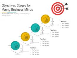 Objectives Stages For Young Business Minds Infographic Template
