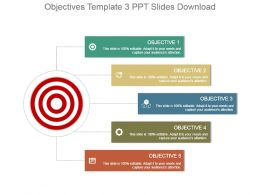 Objectives Template 3 Ppt Slides Download