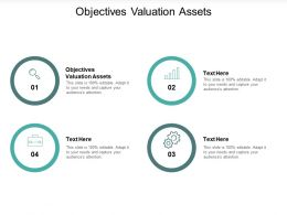 Objectives Valuation Assets Ppt Powerpoint Presentation Infographic Template Templates Cpb