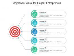 Objectives Visual For Elegant Entrepreneur Infographic Template