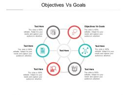 Objectives Vs Goals Ppt Powerpoint Presentation Styles Infographics Cpb