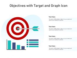 Objectives With Target And Graph Icon