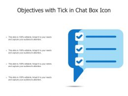Objectives With Tick In Chat Box Icon