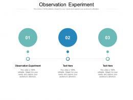 Observation Experiment Ppt Powerpoint Presentation Portfolio Inspiration Cpb
