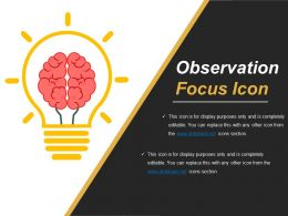 Observation Focus Icon Ppt Images