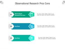 Observational Research Pros Cons Ppt Powerpoint Presentation Icon Examples Cpb