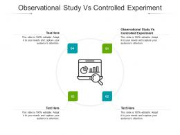 Observational Study Vs Controlled Experiment Ppt Powerpoint Presentation Icon Files Cpb