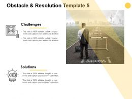 Obstacle And Resolution Template Idea Blub Ppt Powerpoint Presentation Icon Portrait