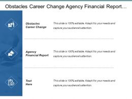 Obstacles Career Change Agency Financial Report Corporate Strategy