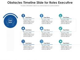 Obstacles Timeline Slide For Roles Executive Infographic Template