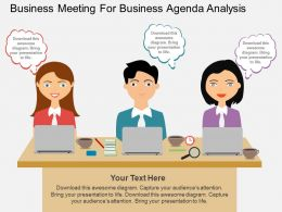 oc Business Meeting For Business Agenda Analysis Flat Powerpoint Design