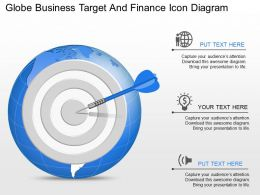 Oc Globa Business Target And Finance Icon Diagram Powerpoint Template