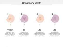 Occupancy Costs Ppt Powerpoint Presentation Gallery Inspiration Cpb