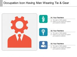 Occupation Icon Having Man Wearing Tie And Gear