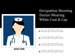 Occupation Showing Doctor Wearing White Coat And Cap