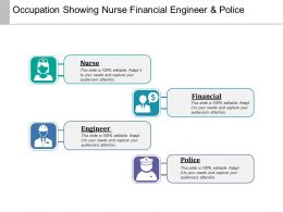 Occupation Showing Nurse Financial Engineer And Police