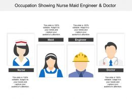 Occupation Showing Nurse Maid Engineer And Doctor
