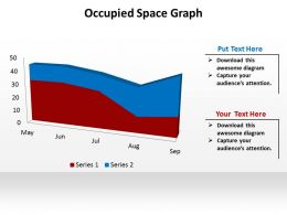 occupied space graph data driven powerpoint diagram templates graphics 712